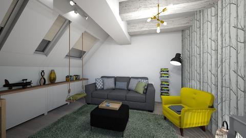 Mansarda Bogdan - Living room - by LauraBreaban