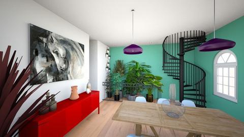 casa2 sala estar e jantar - Living room - by juliamepos