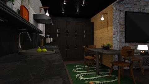 Loft 03 - Eclectic - Kitchen - by evahassing