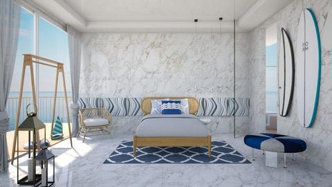 Santorini - Bedroom - by chania