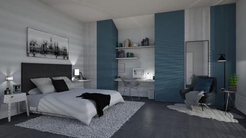 dark blue tone - Modern - Bedroom - by patriicia popa