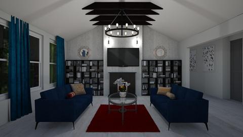 Modern Cabin Living Room - Living room - by abbyt94
