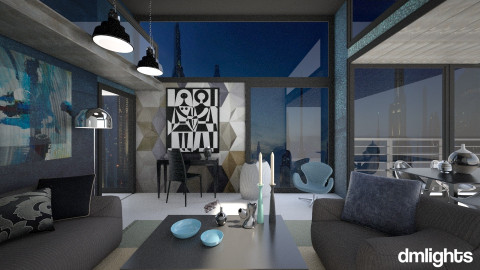 Coruscant Penthouse - Living room - by DMLights-user-1042262