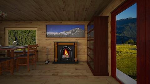 Chalet of Dolomites - Rustic - by Katiaboem