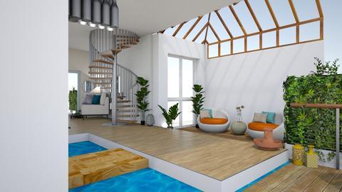 Deniz Terras - Living room - by zenaalomran