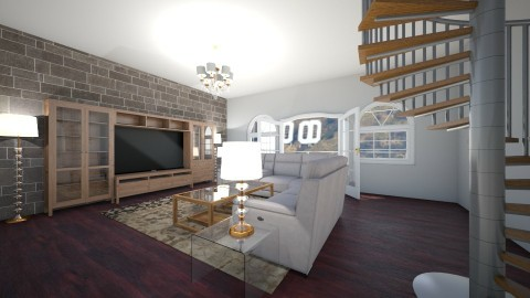 Hollywood Living Room 1 - Modern - Living room - by redRose91799
