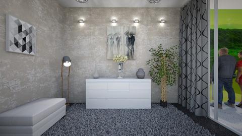 some orange - Minimal - Living room - by Vasile Bianca Rozalia
