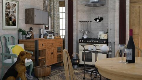 Tiny Kitchen - Country - Kitchen - by HenkRetro1960