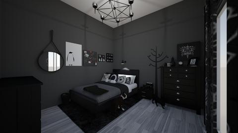 my dream black and white  - Modern - Bedroom - by jade1111
