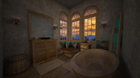 bohemian bathroom - Bathroom - by daydreamer84