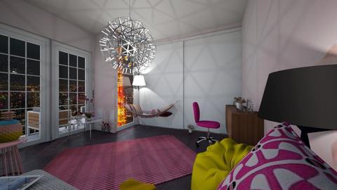 Tokyo Japan Apartment - Feminine - Bedroom - by Applestyler