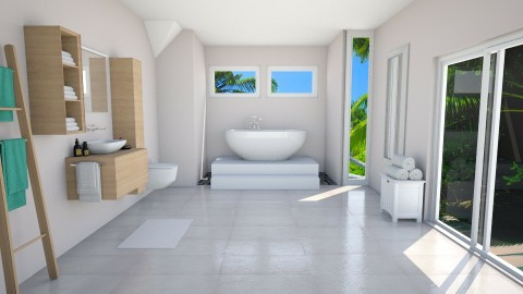 Starting the day right - Modern - Bathroom - by helenegi