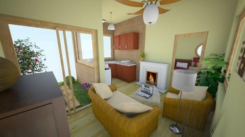 Oliva - Living room - by Blueflamingo