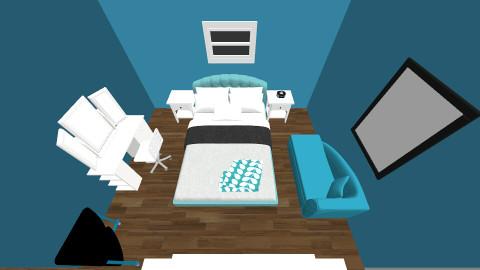 Blue bedroom - Classic - Bedroom - by mathusha2020