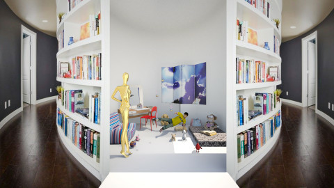Yes mum I study - Eclectic - Kids room - by Orionaute