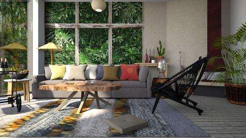 Jungle_Living - Living room - by ZuzanaDesign
