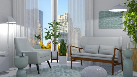White Mint - Living room - by GraceKathryn