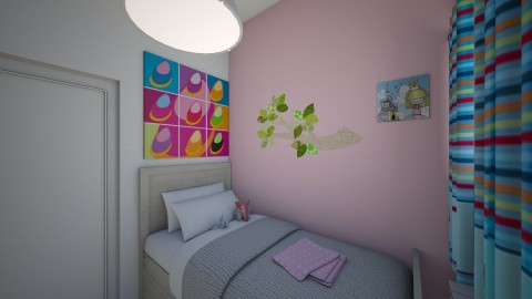6m2 girls room - Kids room - by tinapicina