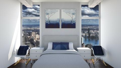 Symmetry Bedroom - Bedroom - by CatLover0110