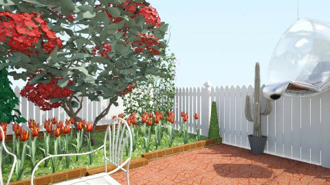 good view of garden - Modern - Garden - by the_mahla