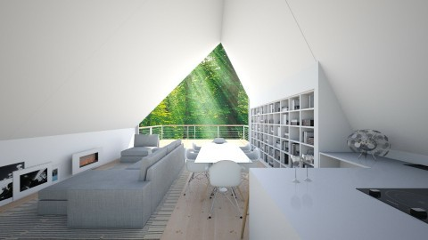 Sloped - Living room - by La Ponno