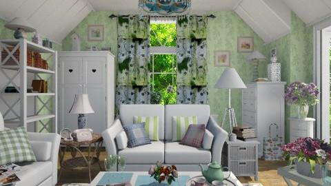 Summer in the Attic - Living room - by Violetta V