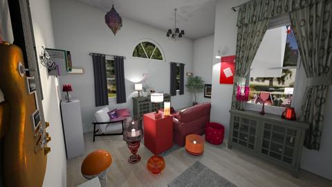 maroon - Living room - by jdenae3