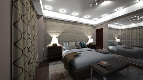 modern bedroom - by bhavya21