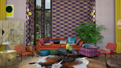 Maximalism - Eclectic - Living room - by Lyske Imagines Homes