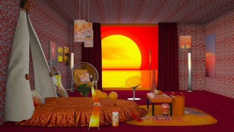 Sunset - Modern - Bedroom - by InteriorDesigner111