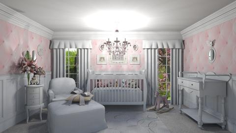 Vintage Pink Nursery - Kids room - by creato