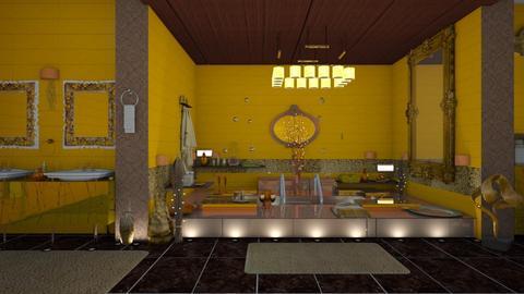 golden bathroom - Modern - Bathroom - by nat mi