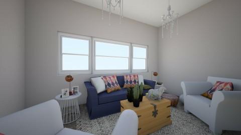 Desert Oasis - Living room - by Raquel Collison