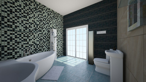 sale  bain  - Bathroom - by Jo Boulette