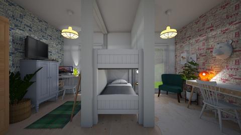 Bunk Bed Room - Bathroom - by rosefrb