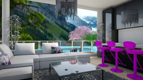 love being in nature - Living room - by Pampina