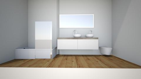 project narrow bathroom - Bathroom - by krosowiec