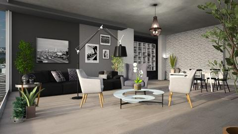 Grey Style - Living room - by ZuzanaDesign