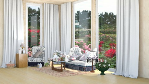 Old Country Roses - Country - Living room - by InteriorDesigner111