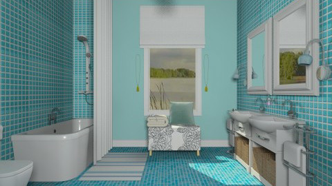 Aqua Blue Classic - Classic - Bathroom - by janip