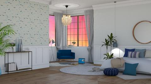 blue beach - Modern - Bedroom - by NEVERQUITDESIGNIT