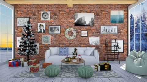 Rustic Christmas - Rustic - Living room - by bgref