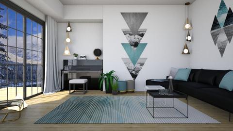 geometric wall - Living room - by miadesign