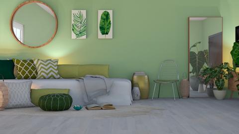green - Modern - Living room - by NEVERQUITDESIGNIT