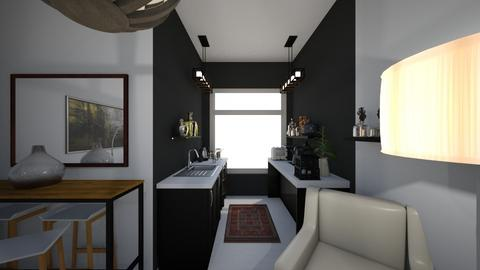 Flat 1 kitch all black  - Living room - by macdebdesign