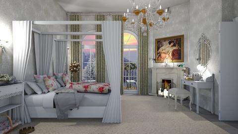 shabby bedroom - by nat mi