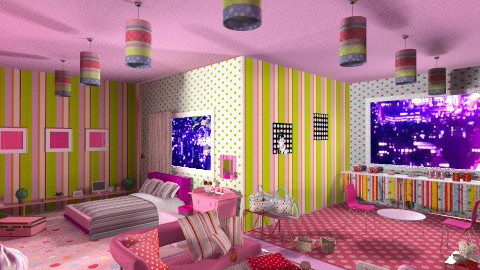 Dots and Stripes - Modern - Living room - by aoi