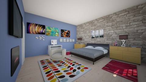 Ethans room - Masculine - Bedroom - by mrrhoads23