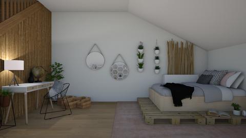 Basement Bedroom - Bedroom - by cutebaxter123
