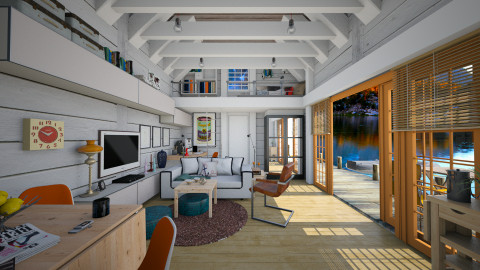 The Tiny Lakehouse - Modern - Living room - by evahassing